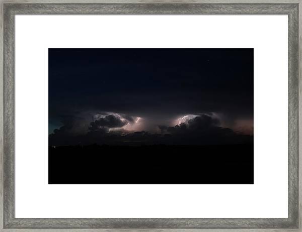 Intense Lightning Framed Print