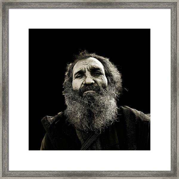 Intense Portrait Framed Print