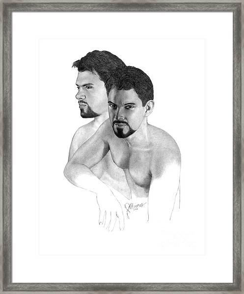 Intense Stare Framed Print