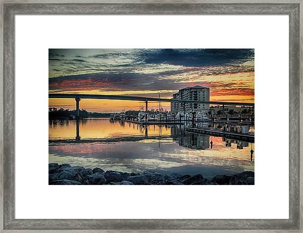 Intercoastal Waterway And The Wharf Framed Print
