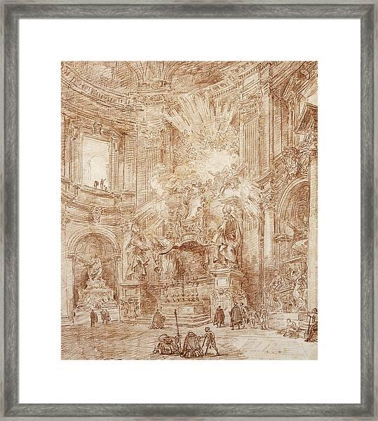 Interior Of A Church  Framed Print