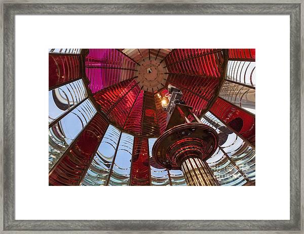 Interior Of Fresnel Lens In Umpqua Lighthouse Framed Print