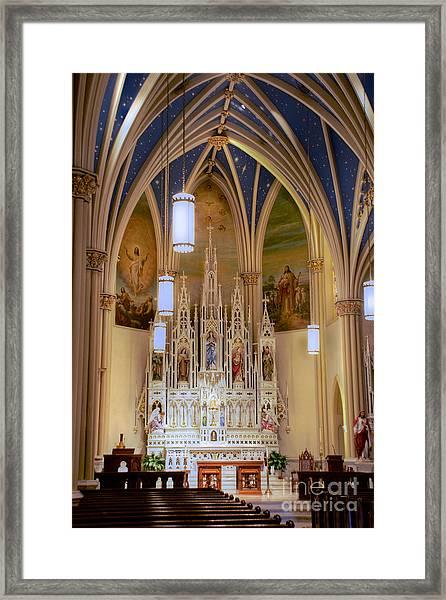 Interior Of St. Mary's Church Framed Print