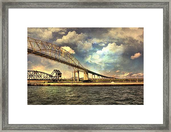 International Bridge Sault Ste Marie Framed Print
