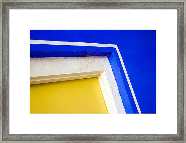 Interplay Of Colors And Geometry Framed Print
