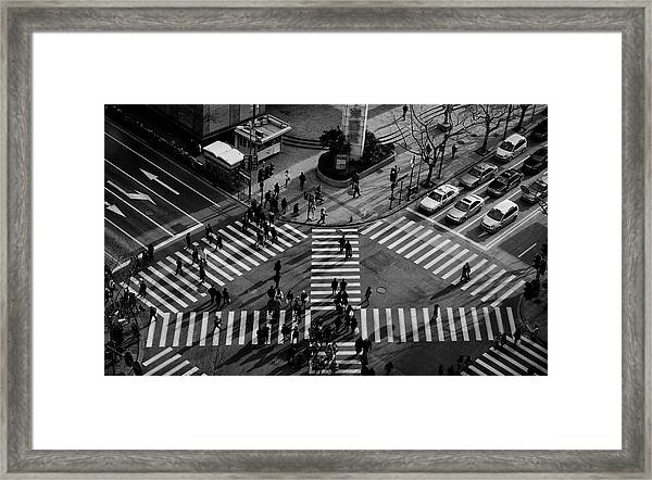 Intersection ( Crossing Alternatives ) Framed Print