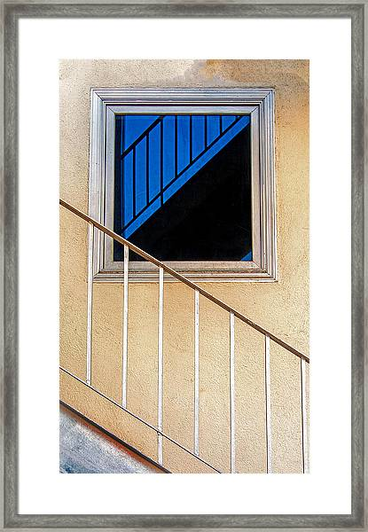 Intersection Of Real And Reflection  Framed Print