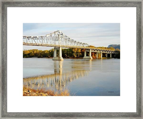 Interstate Bridge In Winona Framed Print