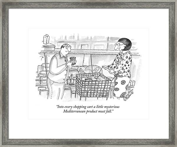 Into Every Shopping Cart A Little Mysterious Framed Print