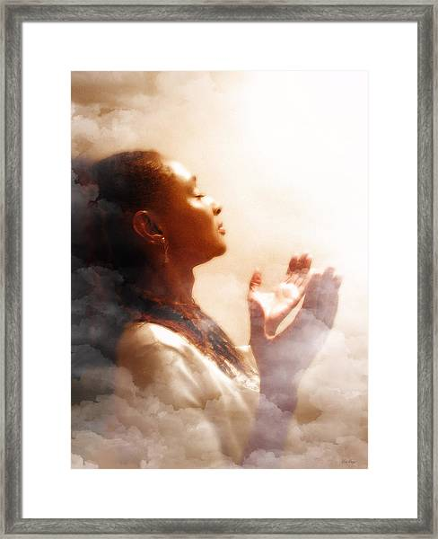 Into His Glory Framed Print
