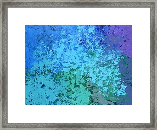 Into The Deep Blue Sea Framed Print