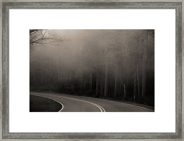 Into The Great Unknown Framed Print