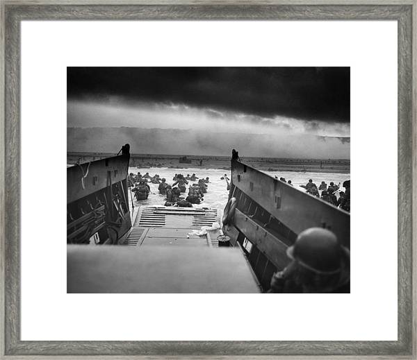 Into The Jaws Of Death Framed Print