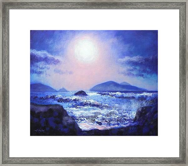 Into The Light The Blasket Islands  Framed Print