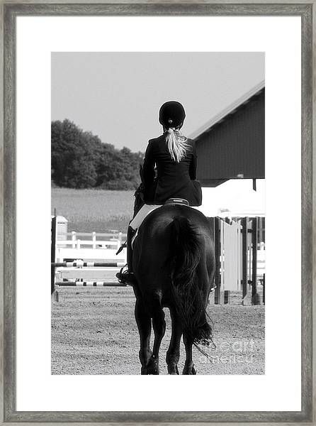 Into The Ring Framed Print