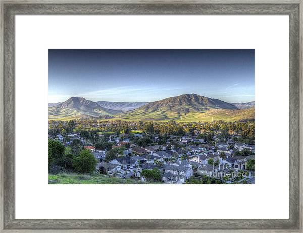 Into The Valley Below Framed Print