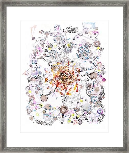 Intracellular Diversion Framed Print