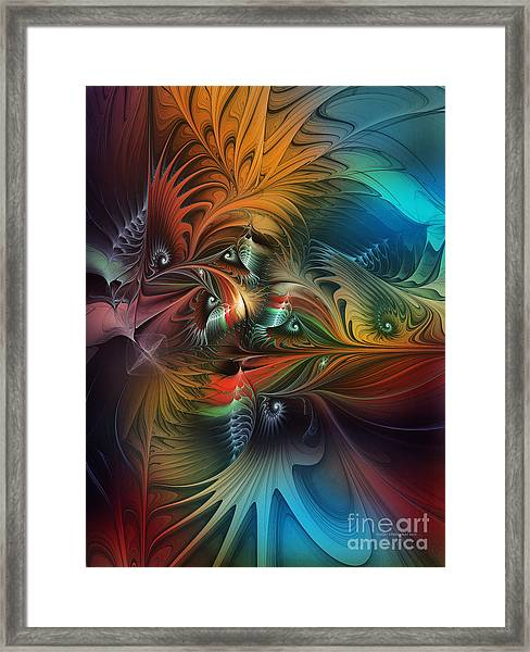 Intricate Life Paths-abstract Art Framed Print
