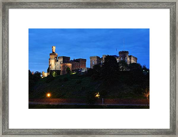 Inverness At Night Framed Print