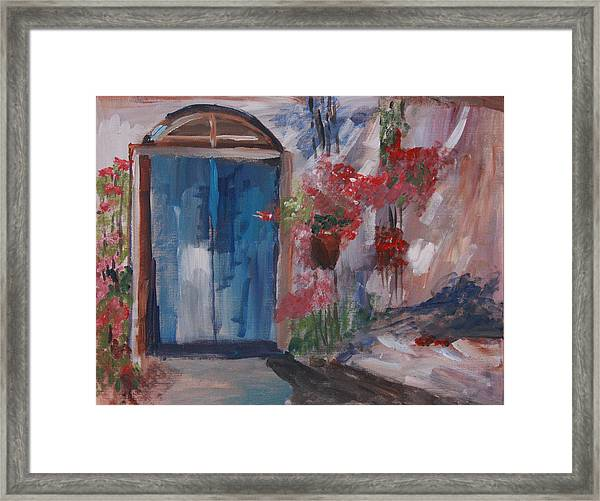 Inviting Doorway Framed Print