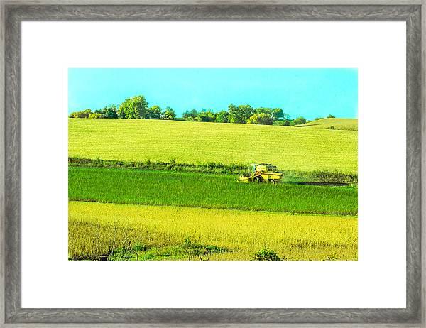 Iowa Farm Land #3 Framed Print