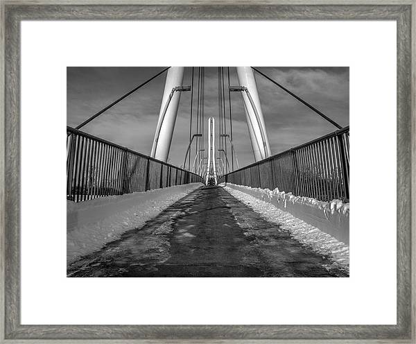 Ipfw Bridge Framed Print