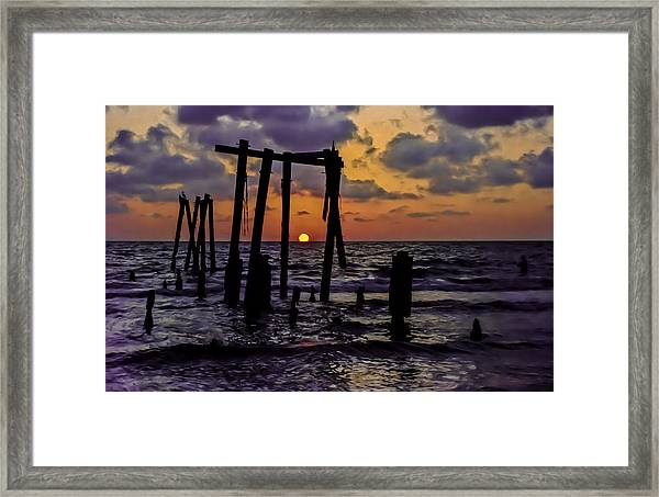 Irb Sunset Framed Print