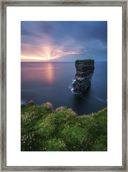 Ireland - Downpatrick Head Framed Print by Jean Claude Castor
