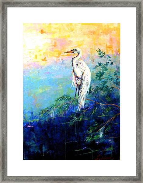 Iris Framed Print by Dawn Gray Moraga