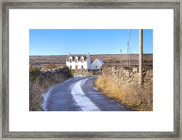 Irish Cottage On Isle Of Inis Mor Framed Print by Mark Tisdale