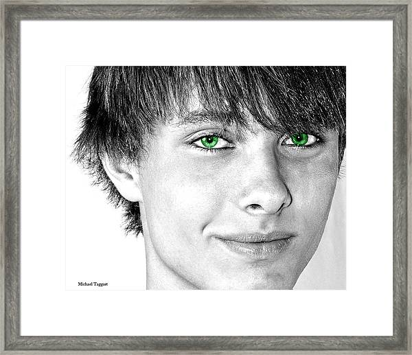 Framed Print featuring the photograph Irish Eyes by Michael Taggart