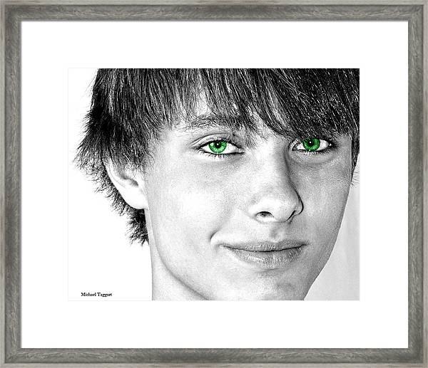Irish Eyes Framed Print