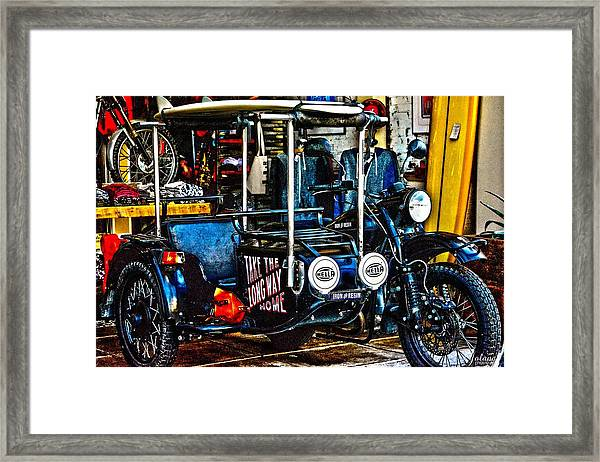 Iron And Resin Framed Print