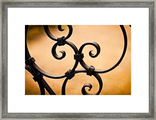 Ironwork Abstract Framed Print