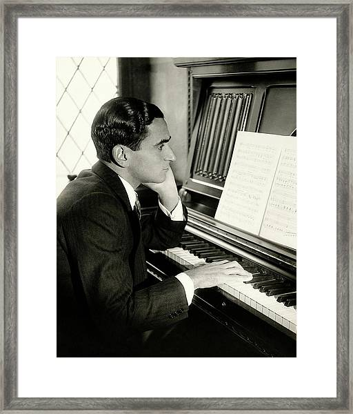 Irving Berlin At A Piano Framed Print