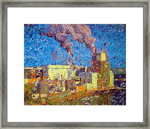 Irving Pulp Mill Framed Print