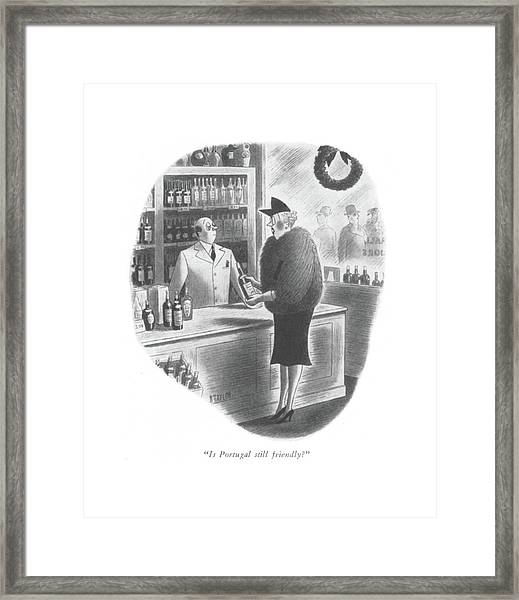 Is Portugal Still Friendly? Framed Print