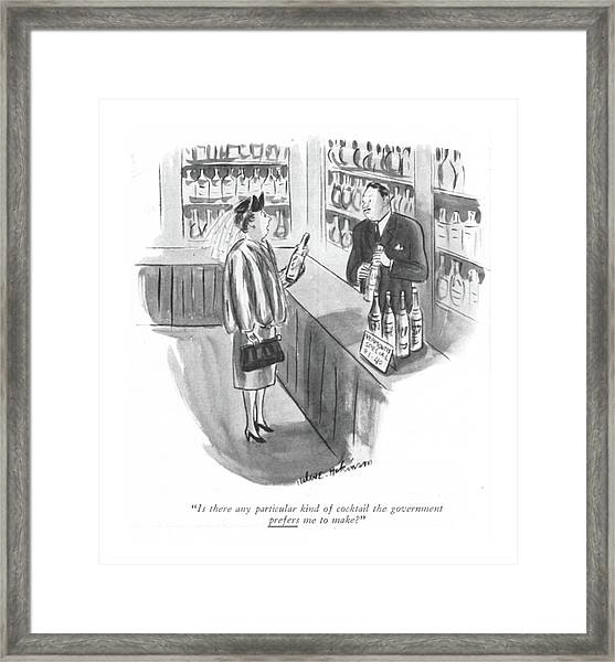 Is There Any Particular Kind Of Cocktail Framed Print