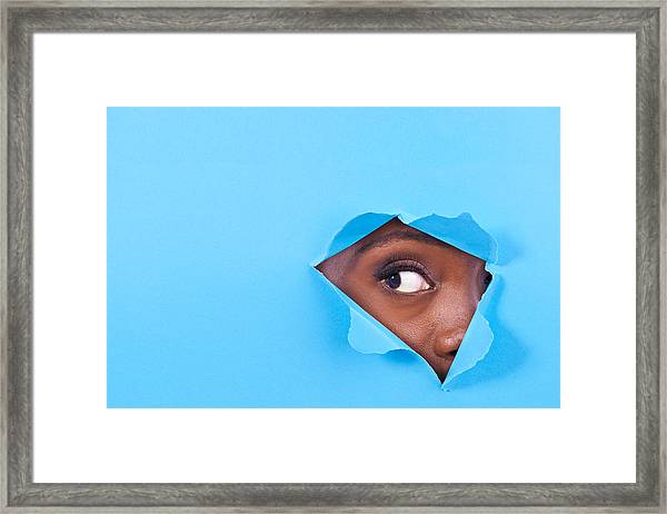 Is There Something There? Framed Print by PeopleImages