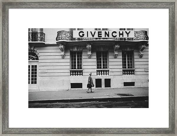Isabel O'donnell In Front Of Givenchy Framed Print