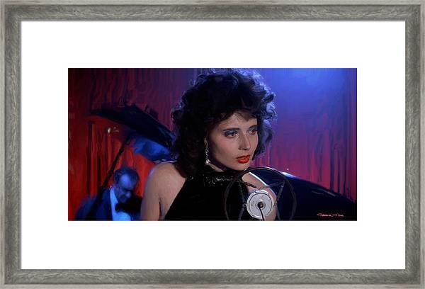 Isabella Rossellini In The Film Blue Velvet Framed Print