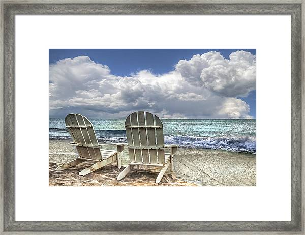 Framed Print featuring the photograph Island Attitude by Debra and Dave Vanderlaan