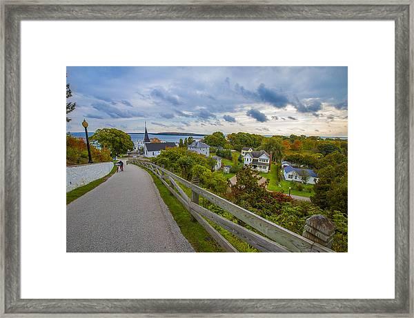 Island By Bike Framed Print