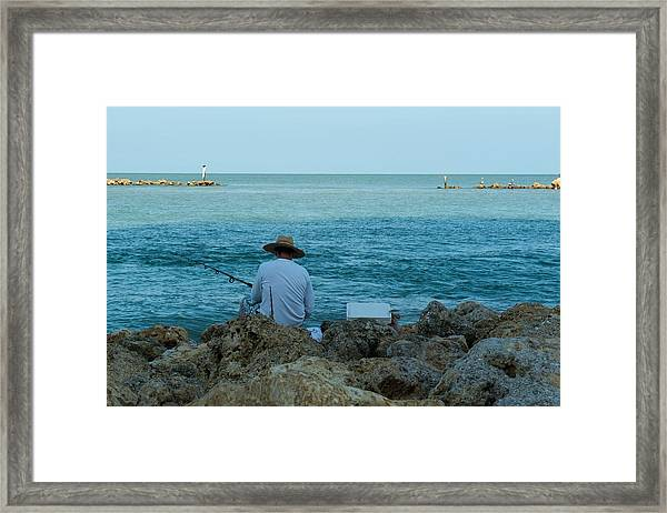 Island Fisherman Framed Print