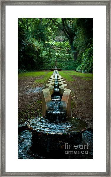 Island Fountain Framed Print