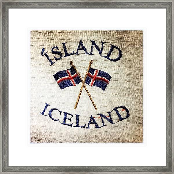 Island Iceland Framed Print
