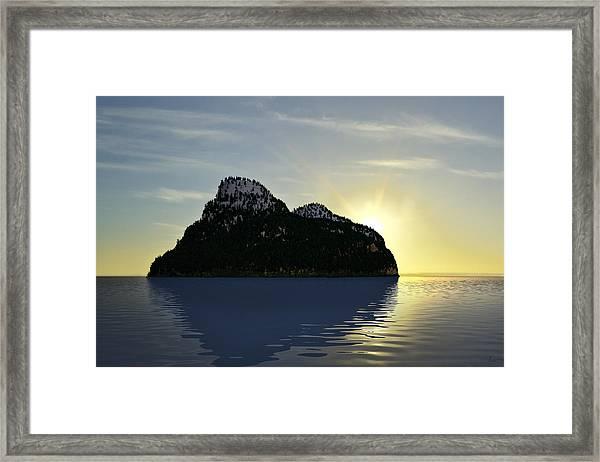 Island Framed Print