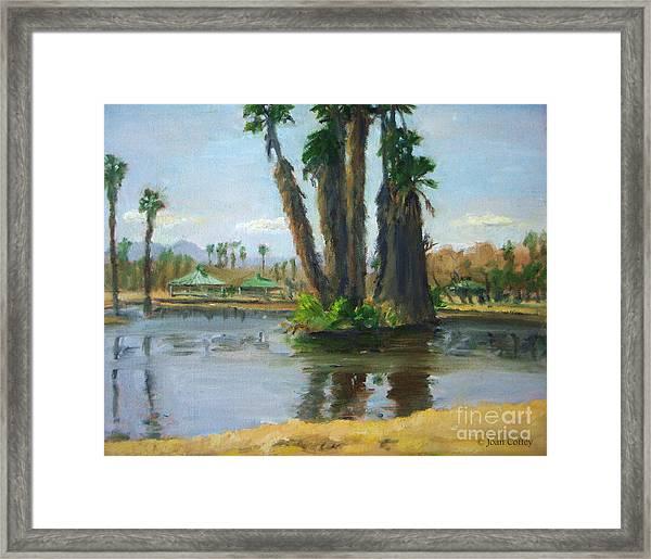 Island Of Palm Trees Framed Print
