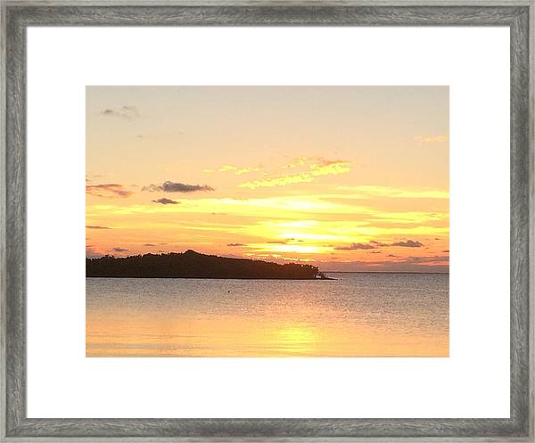 Island Sunset Framed Print