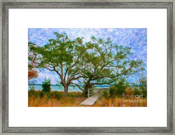 Island Time On Daniel Island Framed Print